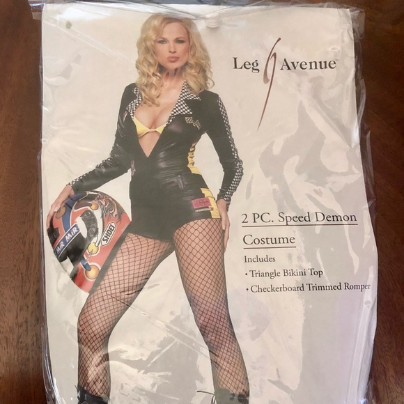 Leg Avenue Sexy Race Car Driver Jumpsuit Costume
